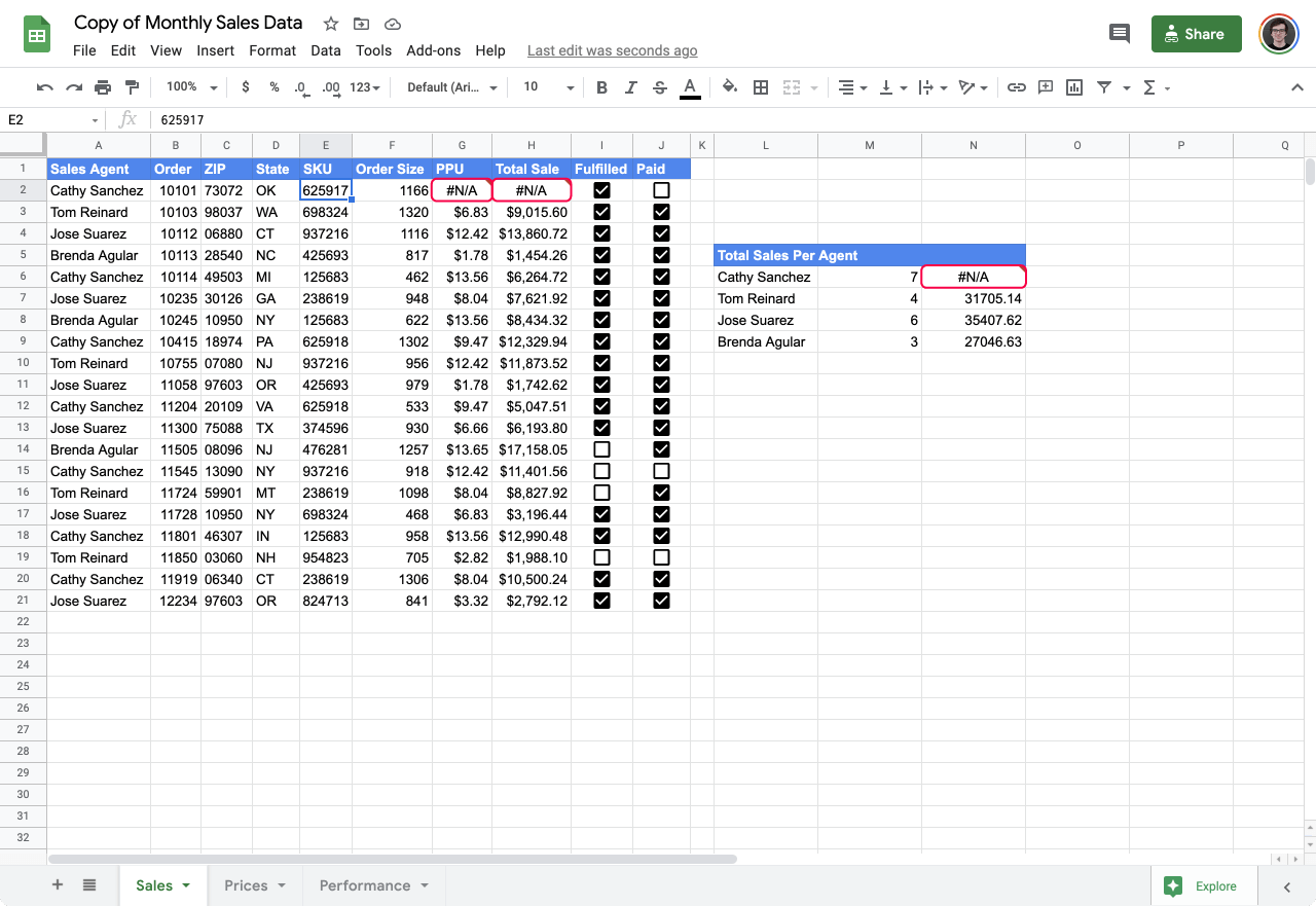 validate input values in Google Sheets 2
