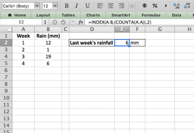 INDEX Excel 4 index with counta
