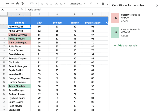 Conditional formatting based on another cell 5