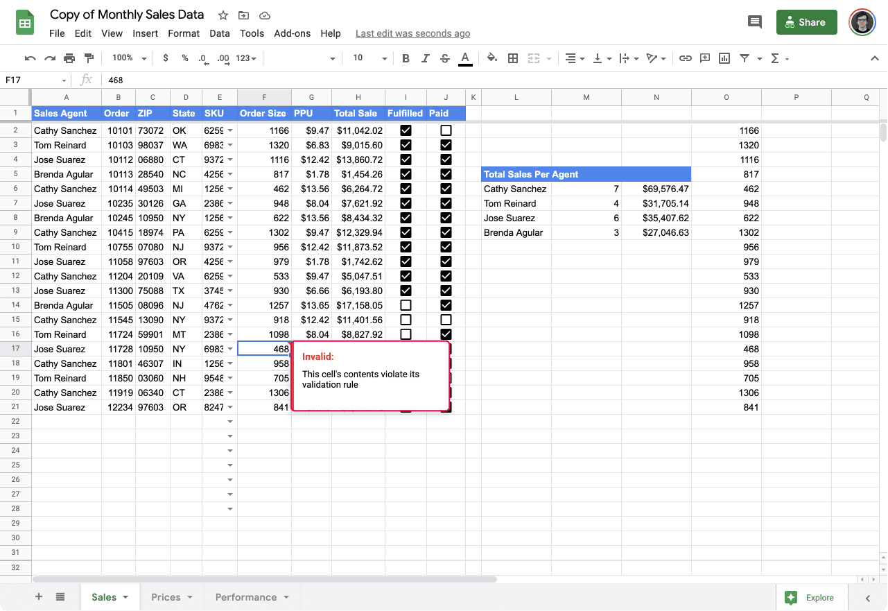 validate input values in Google Sheets 7