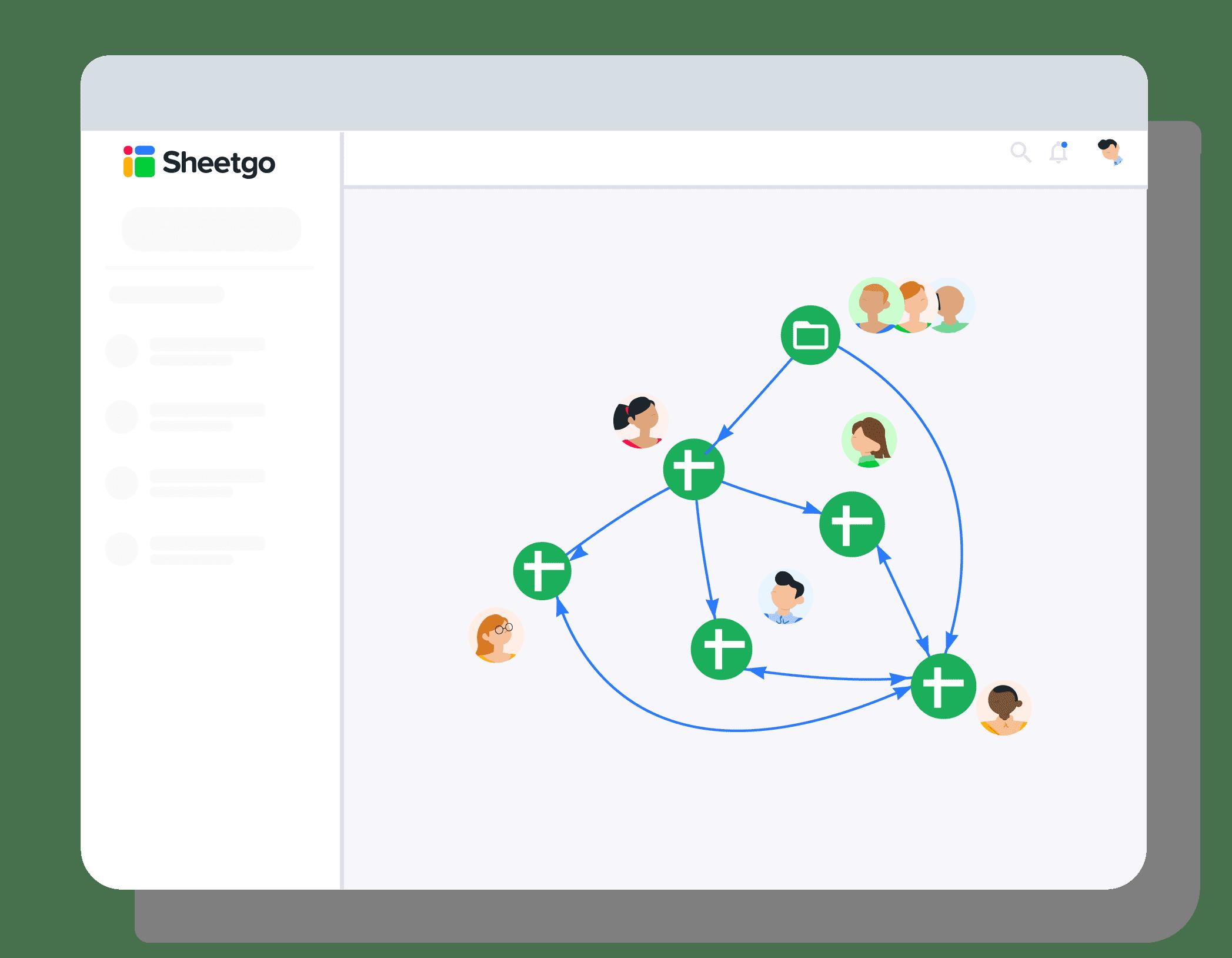 Workflow view Sheetgo - Importrange Google Sheets