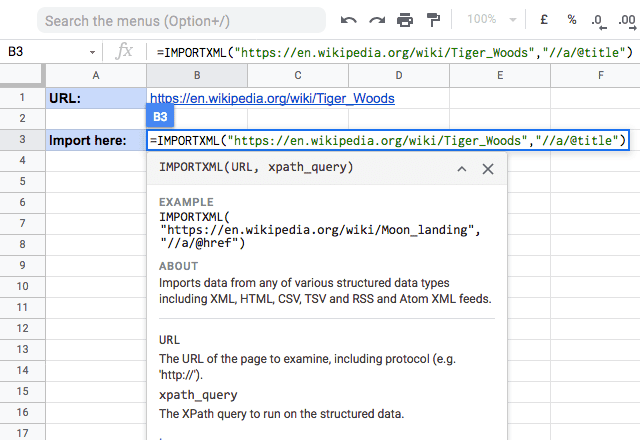 importxml google sheets 1