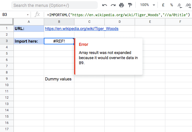 importxml google sheets 5