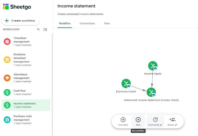 Income Statement Template Excel Update 6