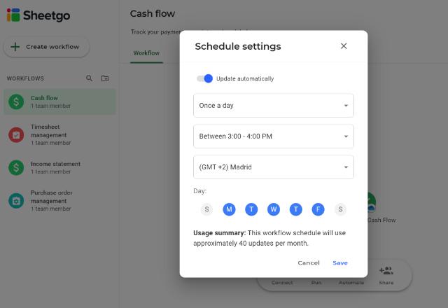Cash Flow Template Excel Automate 6