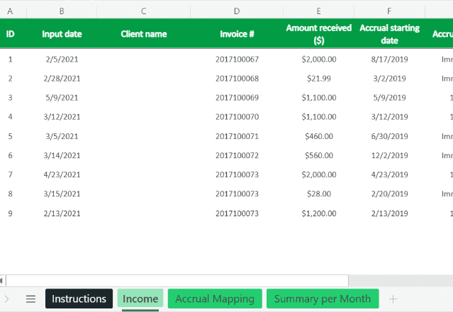 Income Statement Template Excel Income revised
