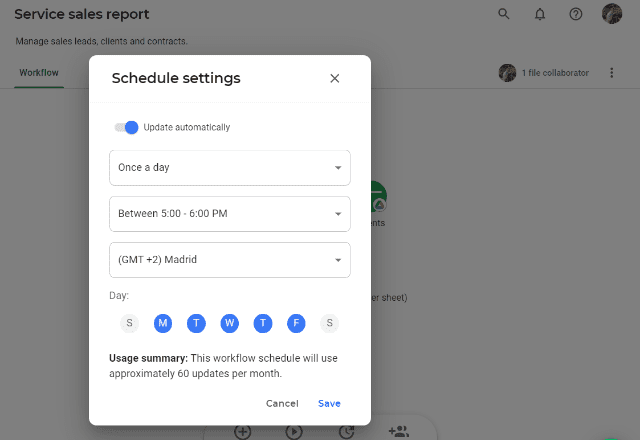 SALES REPORT TEMPLATE GOOGLE SHEETS AUTOMATE