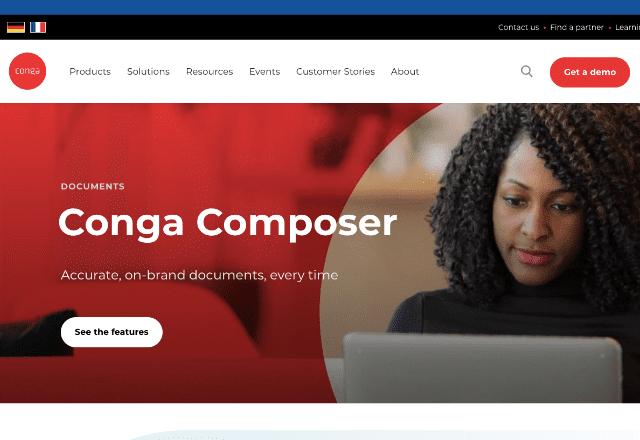 best document generation software 5. Conga