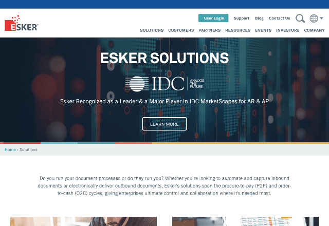 best document generation software 6. Esker