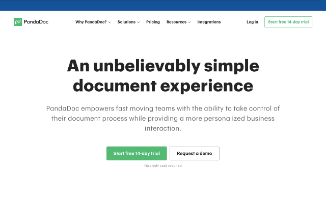 best document generation software 1. Pandadoc