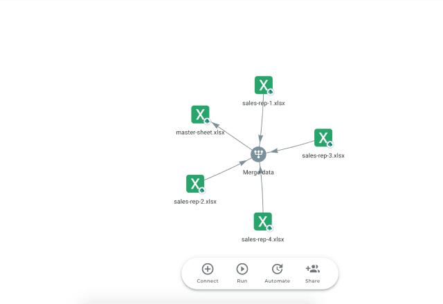 Excel sales lead template workflow view