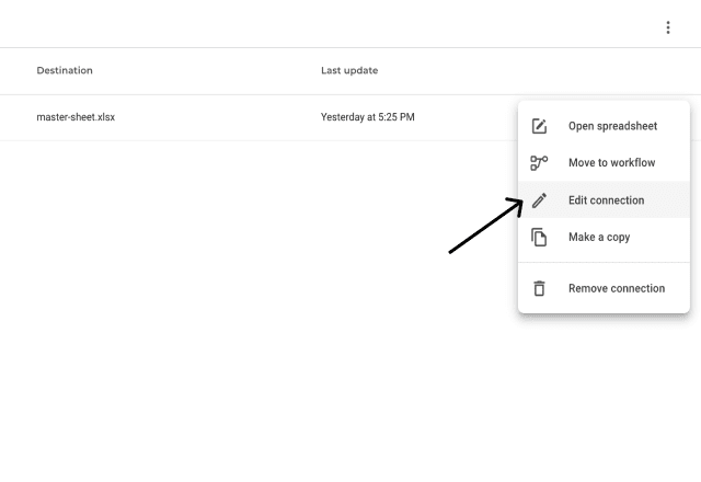 Excel sales lead template edit connection