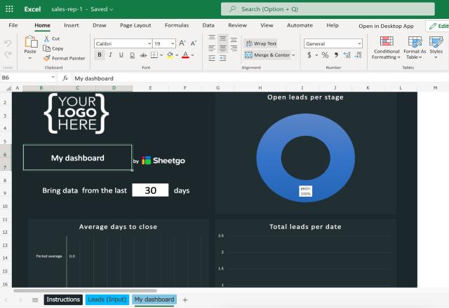 excel sales lead template sales rep dashboard