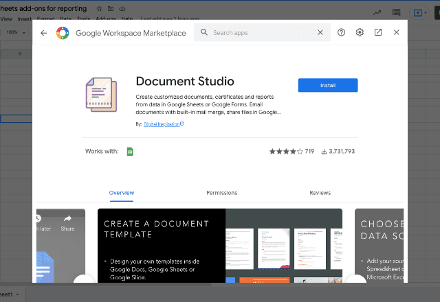 add-ons for reporting 3 Document Studio