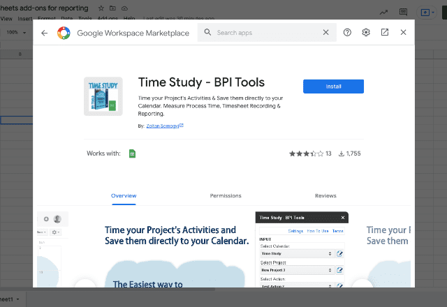 add-ons for reporting 5. Time Study BPI Tools