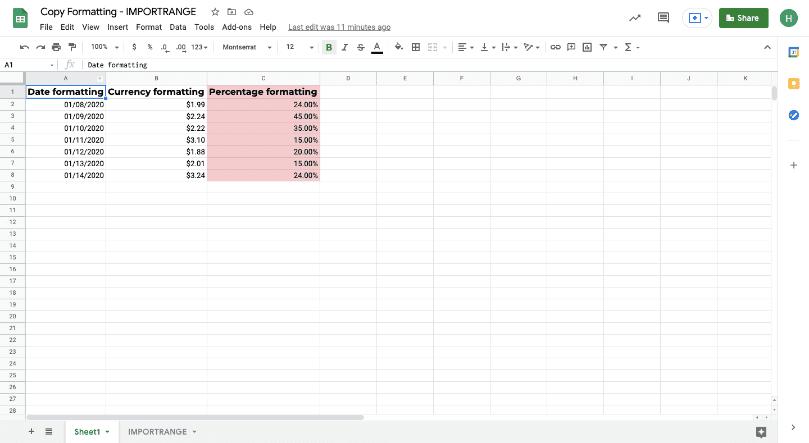 copy formatting google sheets 1
