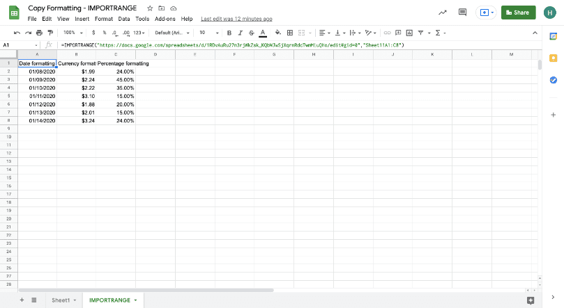 copy formatting google sheets 2