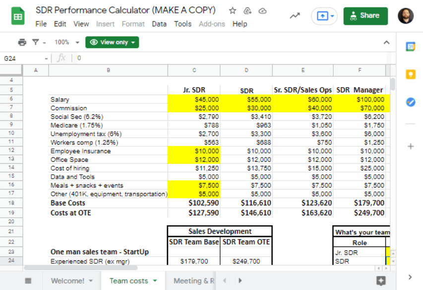 Cold Email Sales in Google Sheets