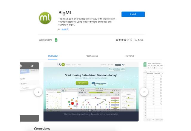 simple finance add on 5 BigML
