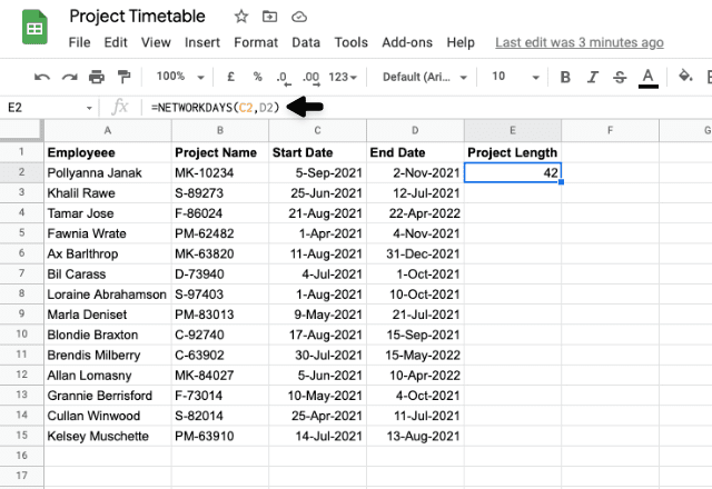 google sheets between two dates 3
