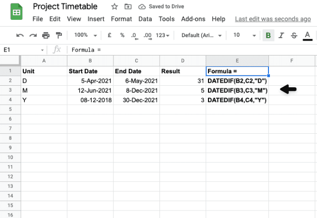 google sheets between two dates 5