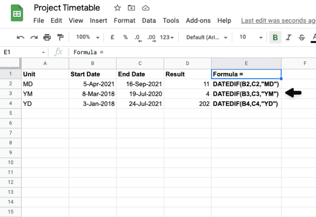 google sheets between two dates 6