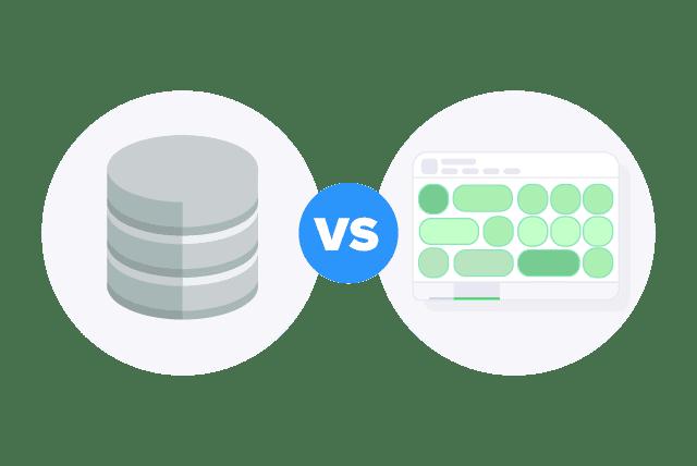 database vs spreadsheets