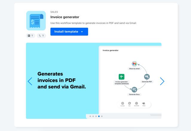 invoice generator install template