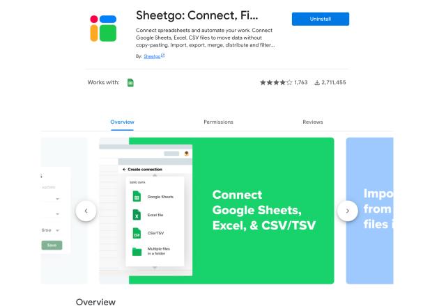 add-ons for marketing Sheetgo