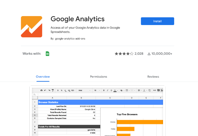 connect Google Analytics to Google Sheets 1