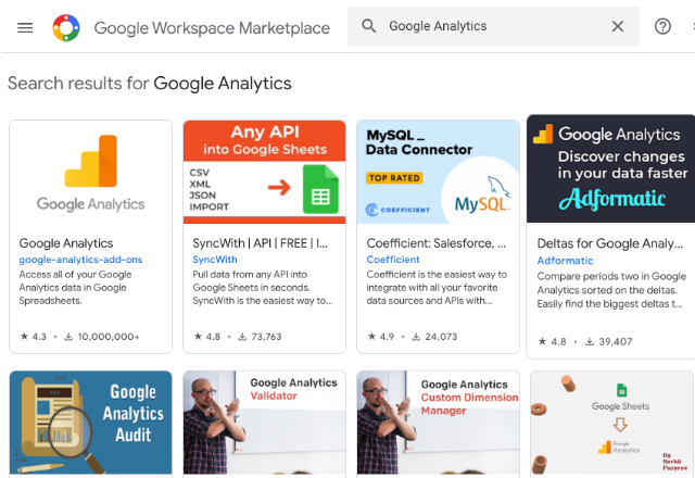 connect Google Analytics to Google Sheets 2